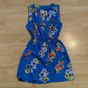 [PEPPERMINT] Royal Blue Floral Dress